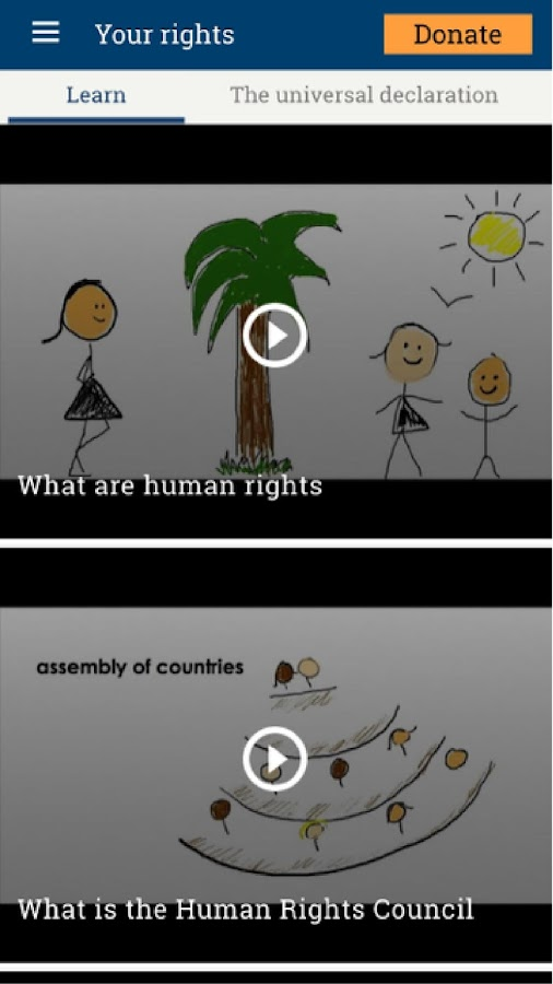 UN Human Rights: captura de pantalla