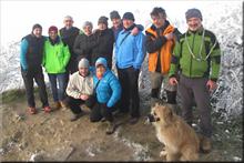 Zaldiaran mendiaren gailurra 978 m. -- 2017ko urtarrilaren 1ean