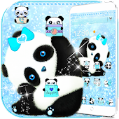 Blue Panda Cute Theme