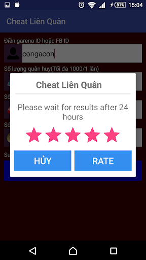 Cheat Lien quan mobile prank app (apk) free download for Android/PC/Windows screenshot