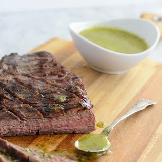Grilled Tri-Tip with Sicilian Herb Sauce.