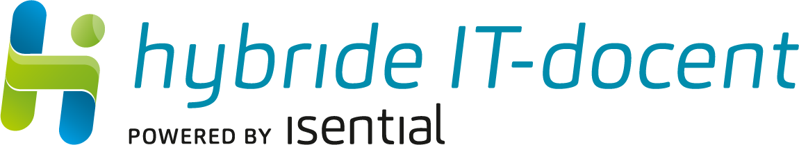 Hybride IT-docent logo powered by isential