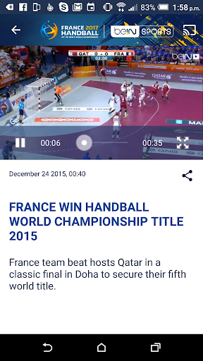 France 2017 Handball WC Live screenshot 4