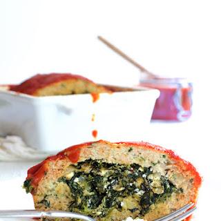 Spinach Feta Stuffed Turkey Meat Loaf Recipe