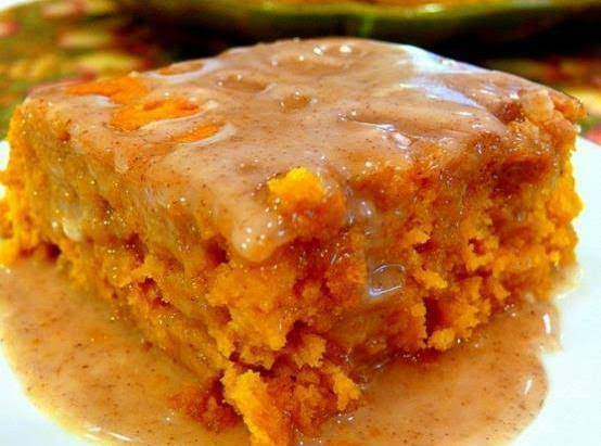 Pumpkin Cake With Apple Cider Glaze
