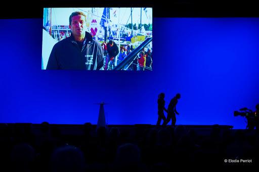 Eric Bellion, navigateur sur le Vendée Globe et parrain du Colloque