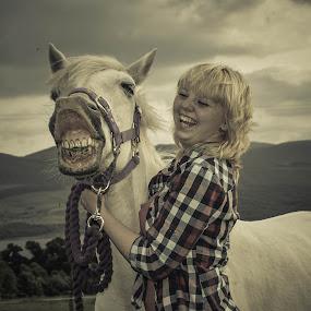 smile by Morag Soszka - Animals Horses ( equestrain, scotland, animals, horse and rider, horse )