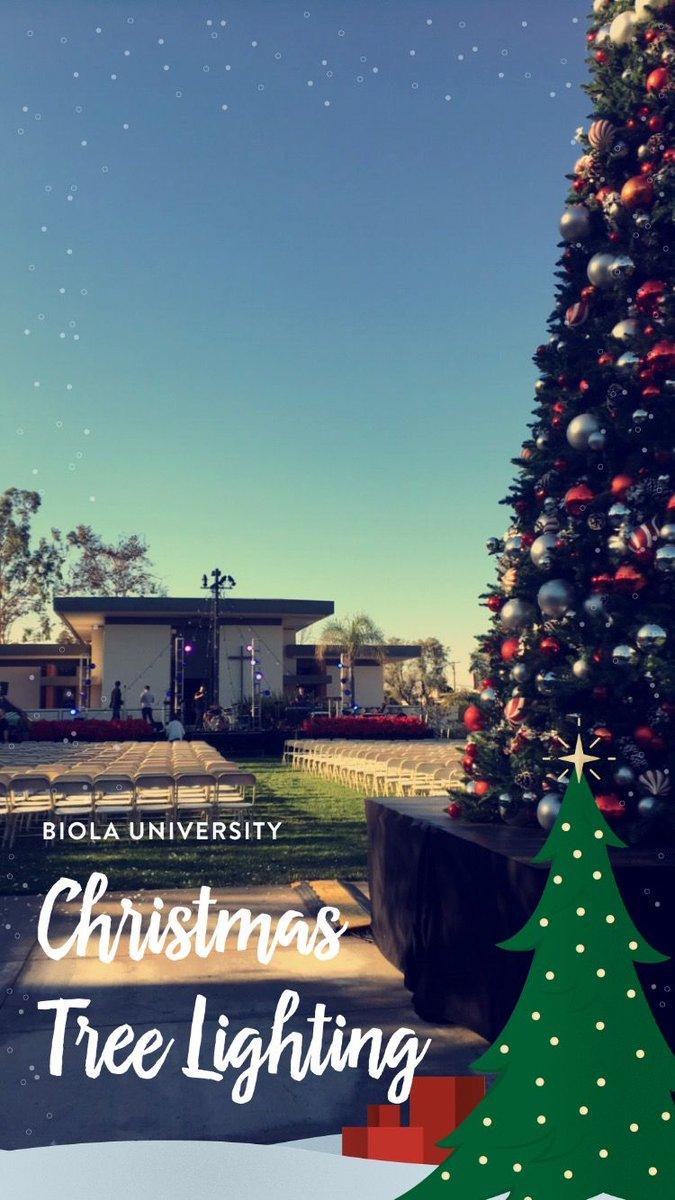 Christmas Tree Lighting at Biola University
