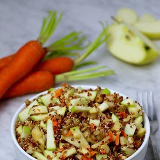 Green Apple Green Lentil Quinoa Salad.