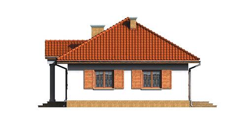 Dom przy Bukowej - Elewacja prawa