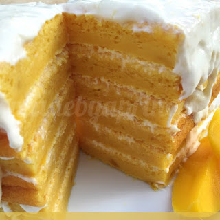 Mouthwatering Mango Coconut Cake made with Yogurt