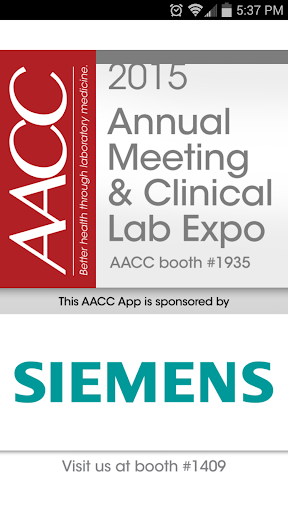 AACC Annual Meeting App 2015