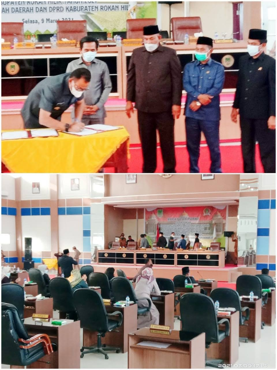 Penanda Tanganan Nota Kesepahaman Bersama Antara Pemerintah Daerah dan DPRD Rohil