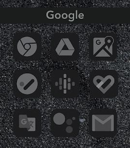 Midnight Black Icon Pack 1.0.3 Android Mod APK 3