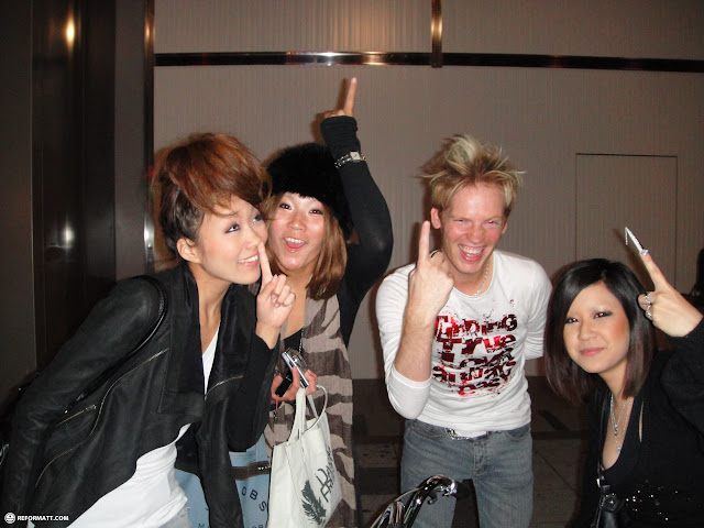 making new Japanese friends at the shinsaibashi district in osaka in Osaka, Osaka, Japan