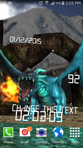 android Legendary Dragons 3d Lwp Lite Screenshot 3
