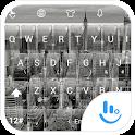 Keyboard Theme Glass City BW icon