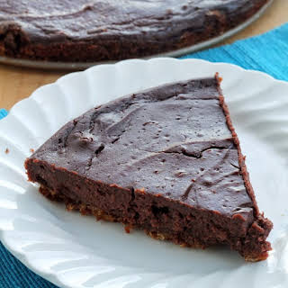 Brownie Batter Pie with Oatmeal Cookie Crust.