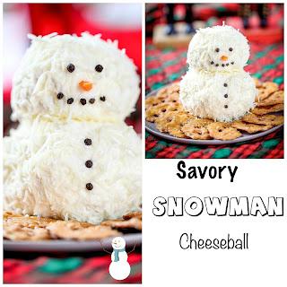Ranch Snowman Cheeseball