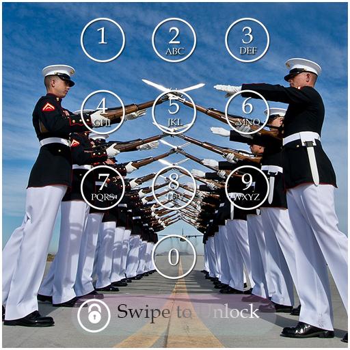 Army Keypad Screen Lock Theme
