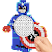 Color by number Superhero pixel art