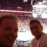 with my buddy John at Miami Heat! in Miami, Florida, United States