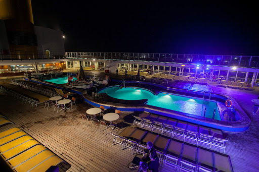 The pool deck of Costa Victoria from Costa Cruises.