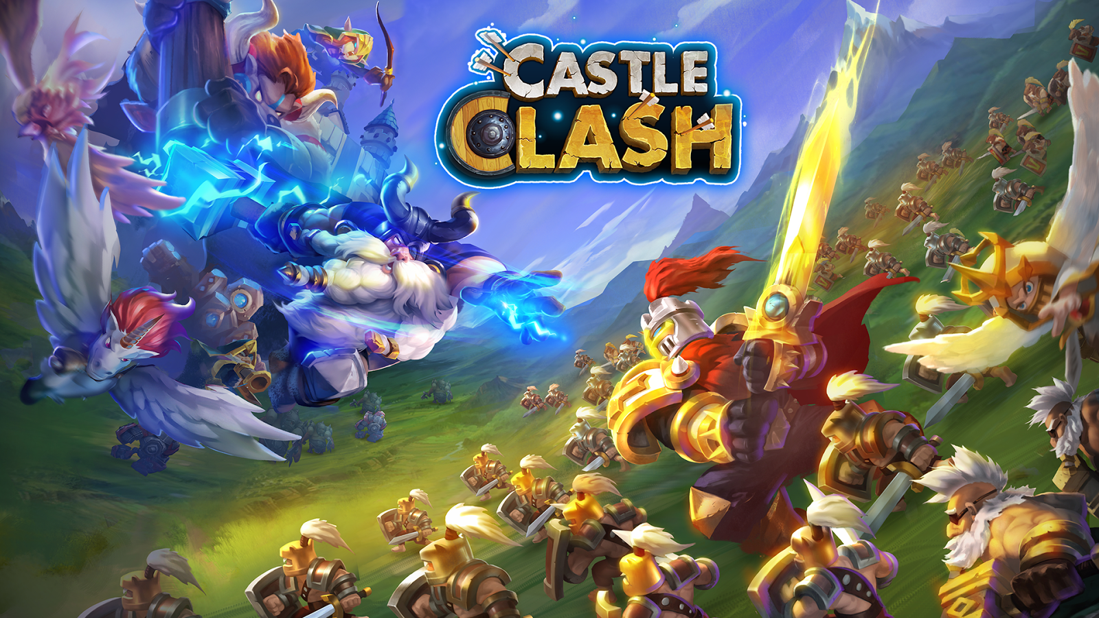 Screenshots of Castle Clash: Pelotão Valente for iPhone