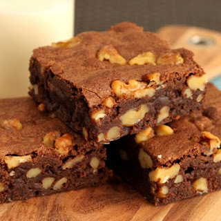 Old School Walnut Brownies.