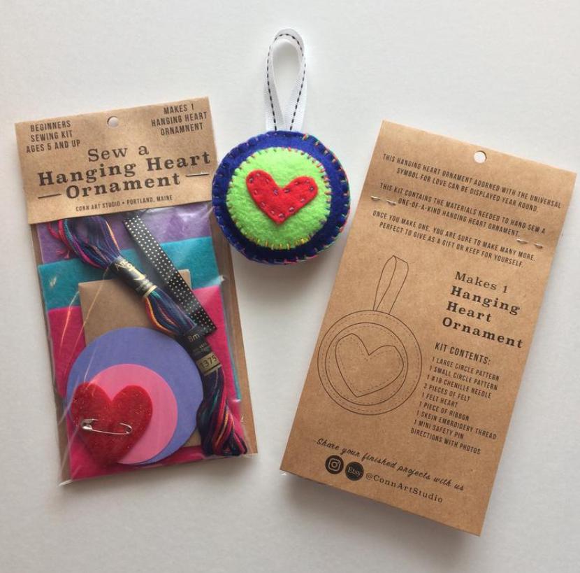 heart ornament kit