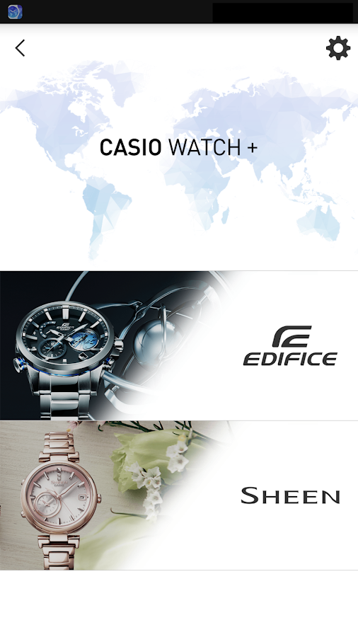 CASIO WATCH+: captura de pantalla