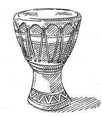 Afbeeldingsresultaat voor djembétrommel tekening