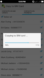 Copy to SIM Card- screenshot thumbnail