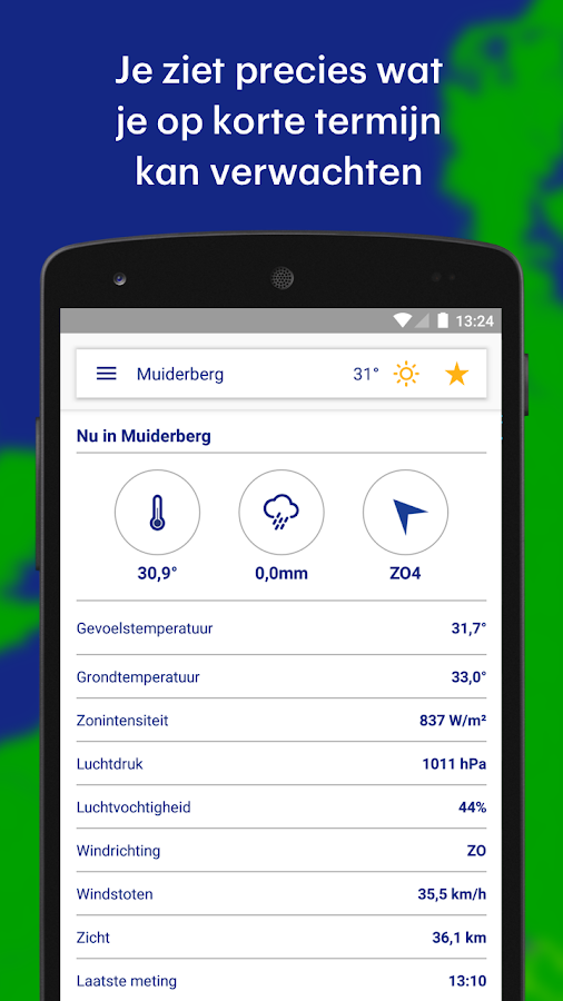 Buienradar- screenshot