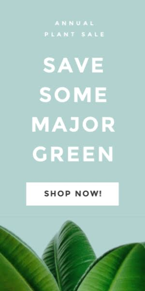 Save Some Greeen - Half Page Ad Template