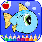 Ocean Animals Coloring Book icon