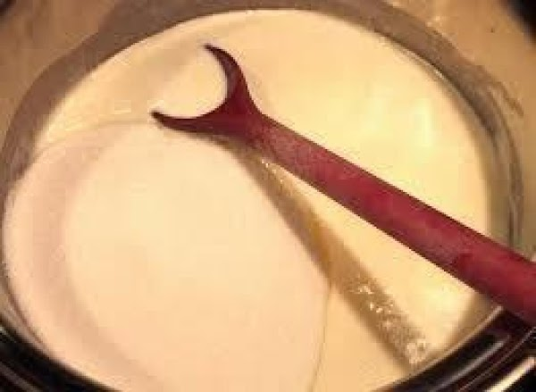 In a large mixing bowl, add marshmallow creme with white chocolate morsels (not melted)....