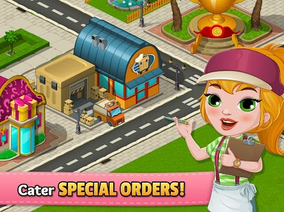 Cafeland world kitchen mod apk v1 7 5 unlimited cash dlmob for Kitchen queen mod apk