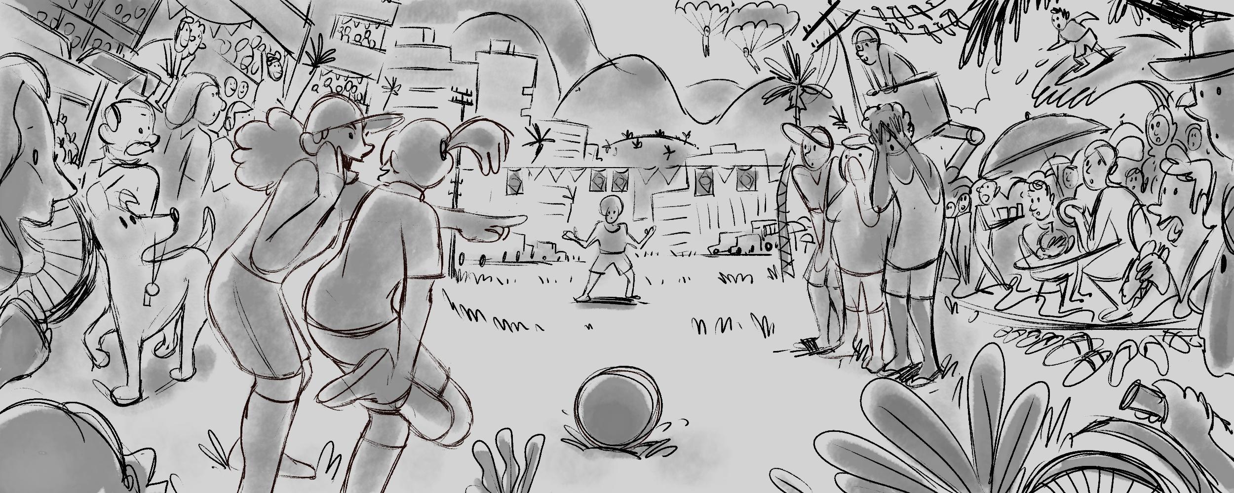 Brazil World Cup Doodle Sketch