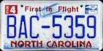 Image of the North Carolina state license.