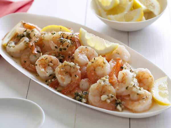 Shrimp With A Wonderful Butter & White Wine-garlic Sauce.