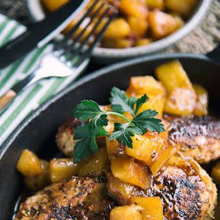 Jerk Chicken with Mango and Pineapple Sauce.