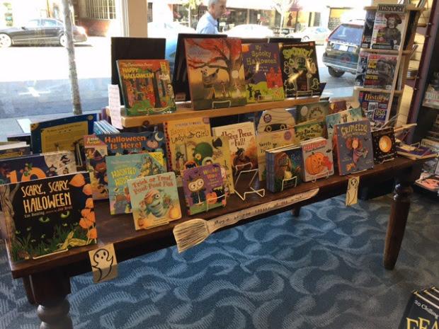 Table display of Halloween books