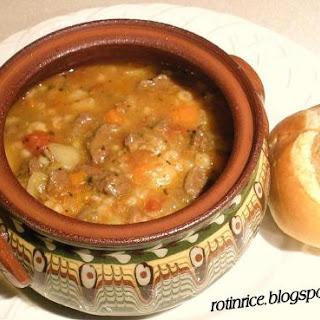 Ro-Ri's Chunky Beef Soup.