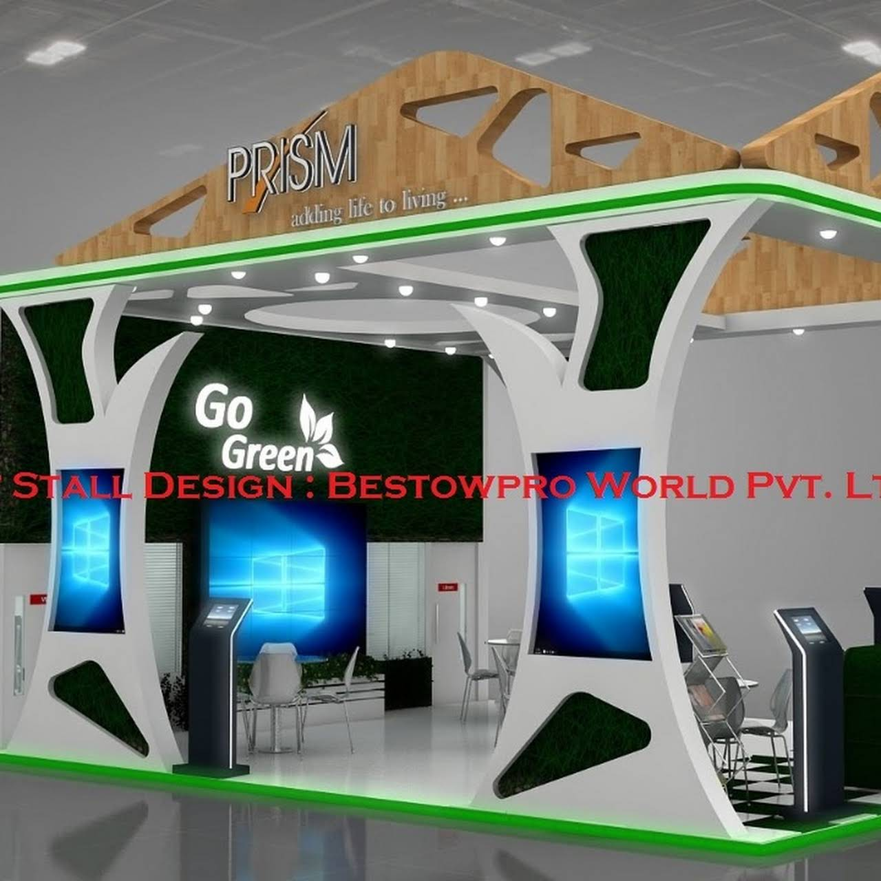 Exhibition Stall Fabricators In Lucknow : Exhibition stall design fabrication bestowpro stall designer