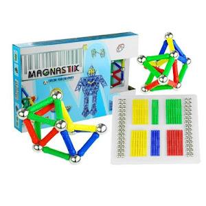 Joc creativ pentru copii, Magnastix 136 piese