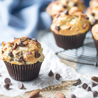Almond, Coconut & Chocolate Muffins.