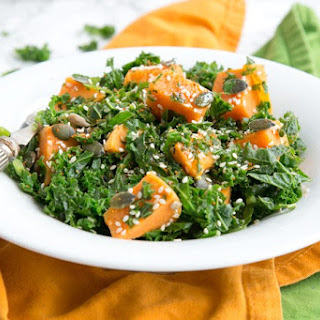 Spicy Sweet Potato and Kale Salad.