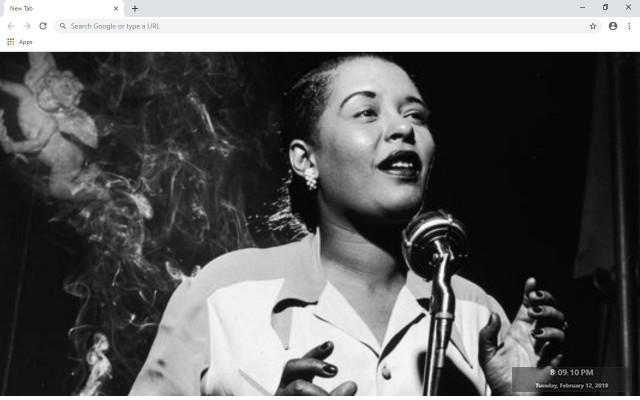 Billie Holiday New Tab