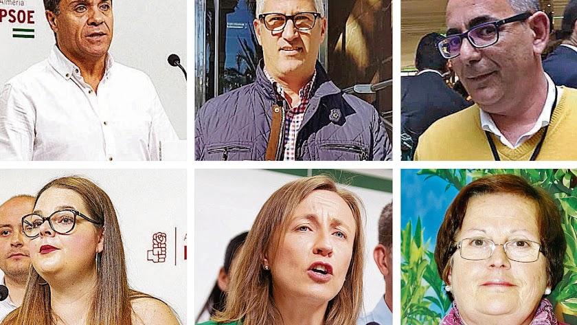 Algunos de los candidatos que pueden ser alcaldes o dejar de serlo el próximo 15 de junio.